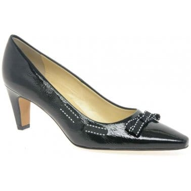 Peter Kaiser Milli Crackle Patent Ladies Court Shoes