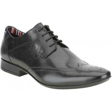 Glint Street Black Leather Brogues