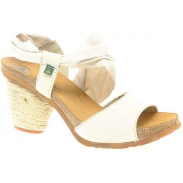 El Naturalista Senda Cotton Trim Heeled Sandals