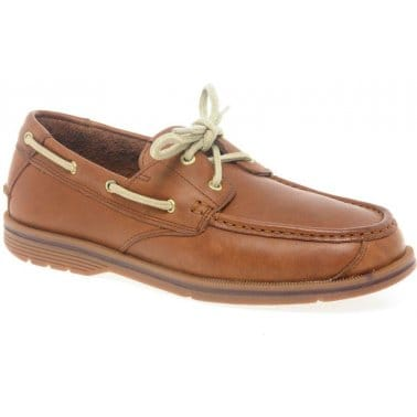 Rockport Seacoast Drive 2 Eye Chilli Mens Deck Shoes