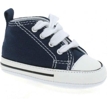 Converse First Star Crib Navy Hi-Tops