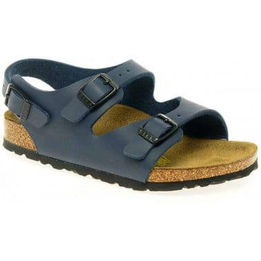 Birkenstock Roma Navy Boys Sandals Buckle Fastening