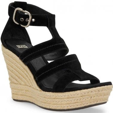 Ugg Lauri Suede Buckle Fastening Wedges