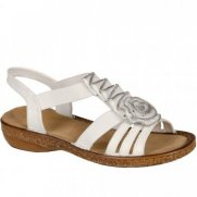Rieker Rosette Zip Trim Fashion Sandals