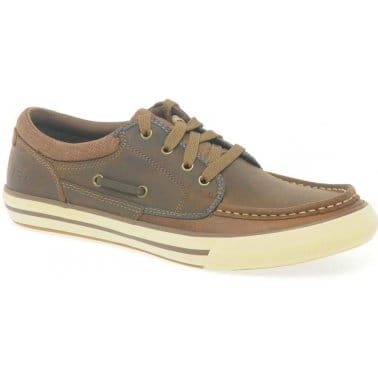 Skechers Creons Brown Leather Mens Boat Shoes