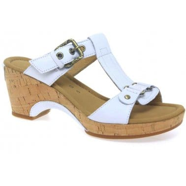 Gabor Fragrance Buckle Strap Wide Fit Ladies Mules