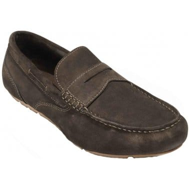 Rockport Greenbrook Bitter Chocolate Suede Slip On Mens Shoes