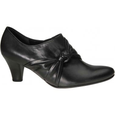 Agnes Womens Black Leather High Cut Court Shoes
