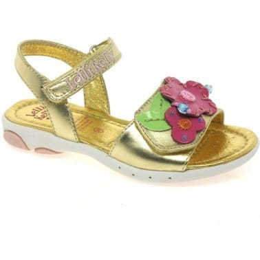 Lelli Kelly Lobster Gold Velcro Fastening Girls Sandals