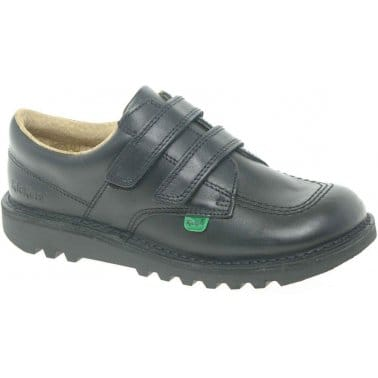 Lo Junior Boys Leather Velcro Fastening Shoes