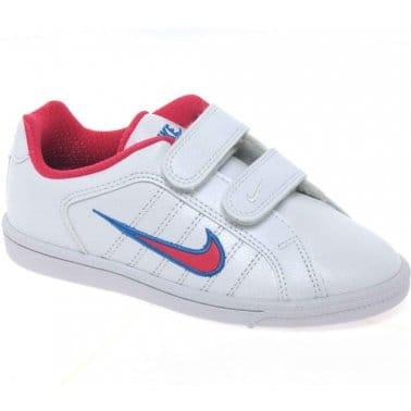 Nike Court Trad Junior Girls Velcro Fastening Sports Shoes
