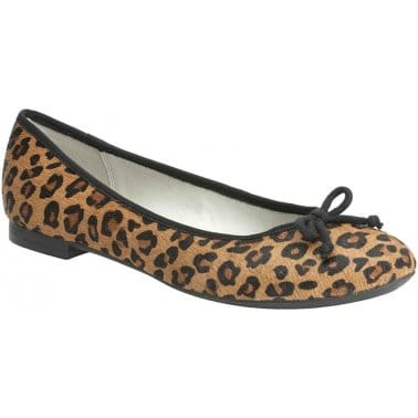 Clarks Carousel Ride Animal Print Leather Ballet Pumps