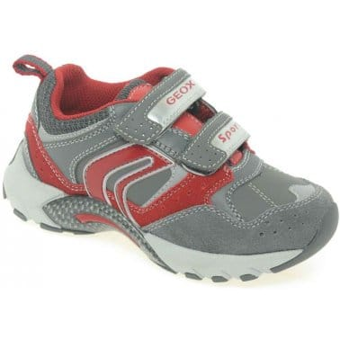Geox Junior Stark Boys Velcro Fastening Sports Shoes