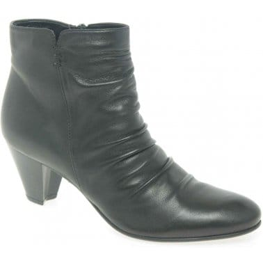 Cara Crease Ladies Leather Ankle Boots 26561