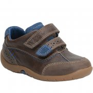 Clarks Softly Lo Boys Velcro Fastening Shoes