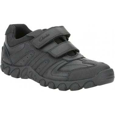 Clarks Jack Reflect Boys Velcro Fastening Shoes