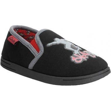 Clarks Skater Style Boys Fabric Slippers