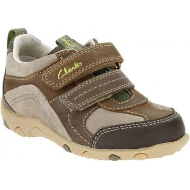 Clarks Beetlefun Boys Velcro Fastening Shoes