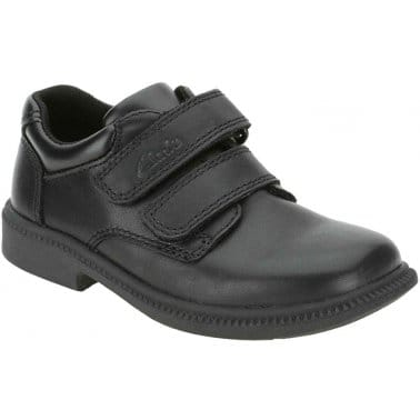 Clarks Deaton Junior Boys Velcro Fastening Shoes