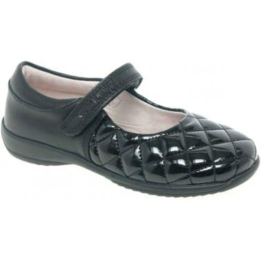 Lelli Kelly Mia Quilt Girls Velcro Fastening School Shoes