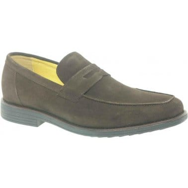Steptronic Audi Mens Formal Brown Suede Slip On Loafers