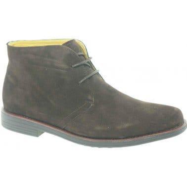 Steptronic Alfa Mens Formal Suede Lace Up Chukka Boots