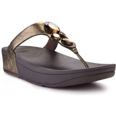 FitFlop Lunetta Bronze Womens Sandals