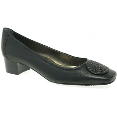 Van Dal Wells Low Heel Leather Court Shoes