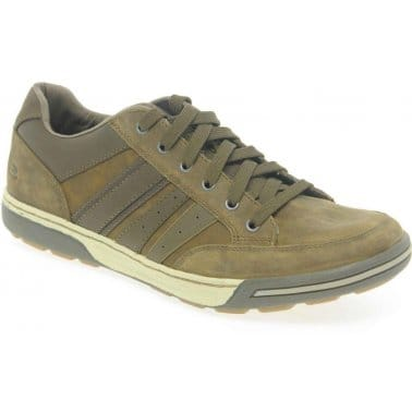 Skechers Rogan Molino Mens Lace Up Brown Leather Trainers