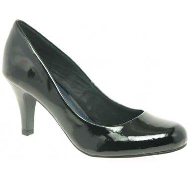 Marco Tozzi Eclipse Patent Womens Dress Court Shoes
