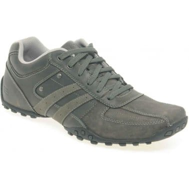 Skechers Trojo Mens Leather Lace Up Casual Shoes