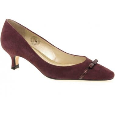 Van Dal Providence Suede Heeled Court Shoes