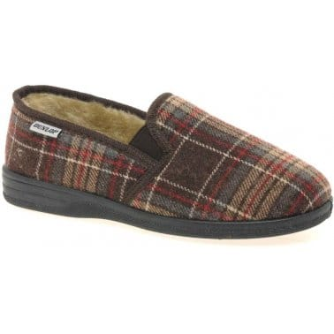 Dunlop Wilfred Mens Fabric Slippers