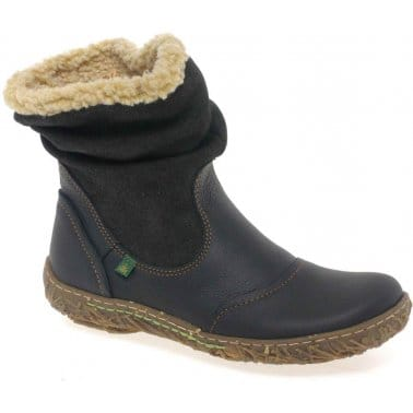 El Naturalista Nido Womens Warm Lined Ankle Boots