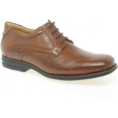 Passos Mens Leather Lace-Up Derby Shoes