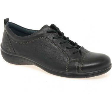 Ecco Earth Lace Up Leather Womens Casual Shoes