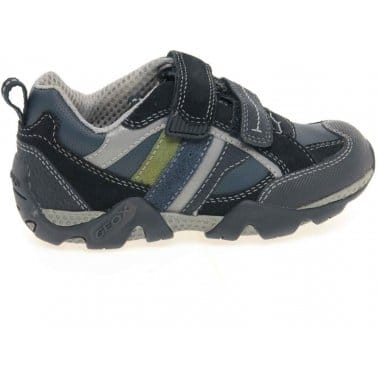 Geox Aragon Junior Boys Velcro Fastening Shoes