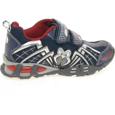 Geox Light Eclipse Junior Boys Velcro Fastening Trainers