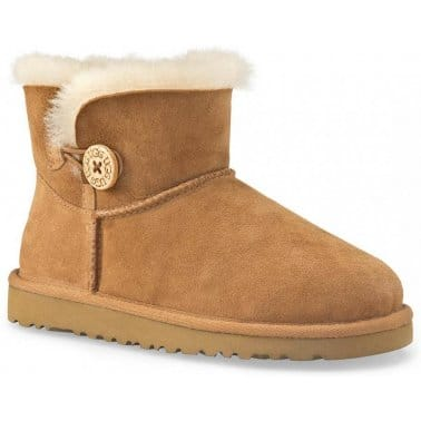 Ugg Mini Baby Button Girls Warm Lined Boots