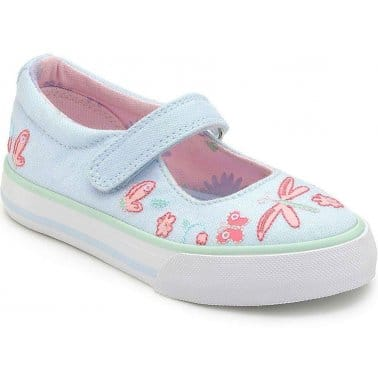 Startrite Amalfi Girls Velcro Fastening Canvas Shoes