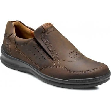 Ecco Wild Mens Slip On Leather Casual Shoes