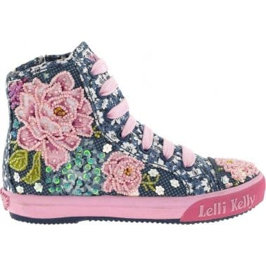 Rose Girls Mid Top Lace Up Boots