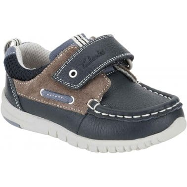 Clarks Deck Flex Boys Velcro Fastening Casual Shoes