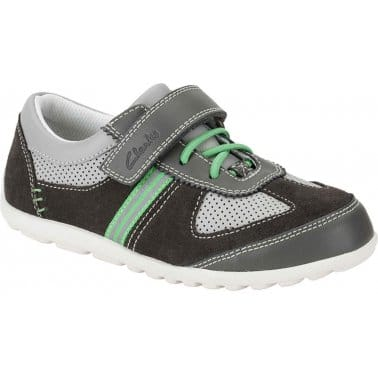 Clarks Balmy Time Boys Velcro Fastening Casual Shoes