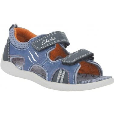 Clarks Stomp Wave Boys Velcro Fastening Sandals