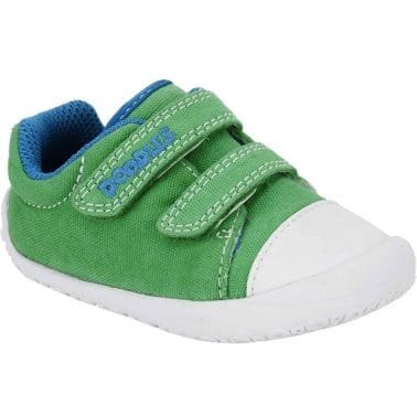 Clarks Little Chap Boys Velcro Fastening Canvas Shoes