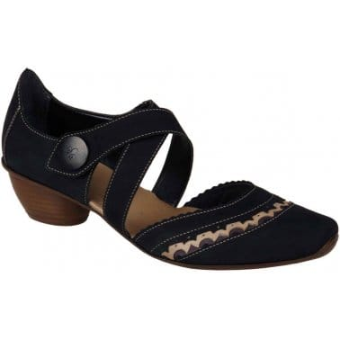 Rieker Marl Womens Open Court Shoes