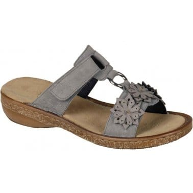 Rieker Sunflower Womens Velcro Fastening Casual Sandals