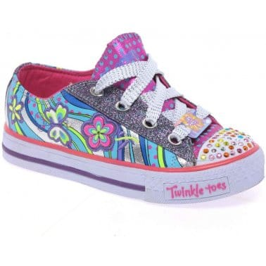 Skechers Scramblers Girls Lace Up Trainers