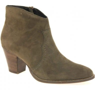 Cara Elderberry Womens Zip Fastening Ankle Boots